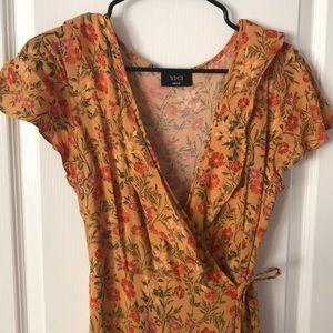 Vici wrap maxi dress floral